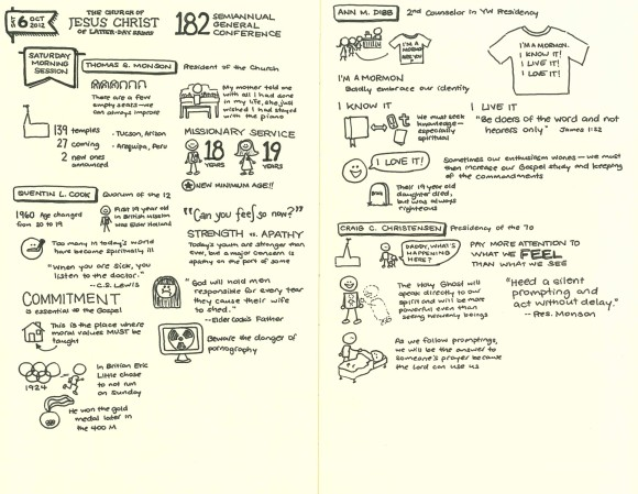 Sketchnotes from General Conference Oct 2012 Sat AM
