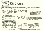 Sketchnotes of Ben Steckler's SORT 2012 Talk